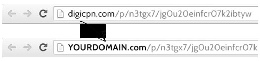 Example of Custom Domain URL for Digital Coupons